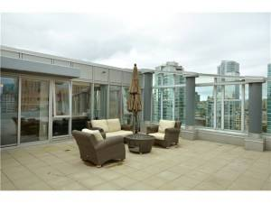 #2606 - 788 Hamilton Street, Vancouver - TV Towers - TV Tower 1 - 1 bedroom Condo for Sale - Penthouse - Active Listings - Patio - Rooftop Deck - Sundeck