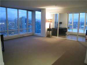 3003 - 233 Robson Street Vancouver - TV Towers Vancouver - TV Tower 2 - Living Room